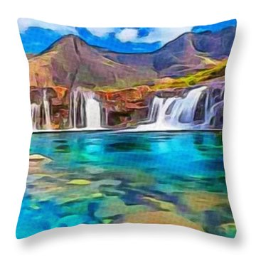 Serene Green Waters Throw Pillow