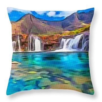 Serene Green Waters Throw Pillow