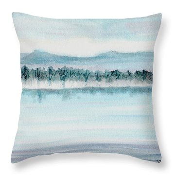 Serene Lake View Throw Pillow by Mickey Krause