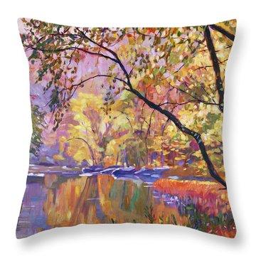 Serene Reflections Throw Pillow