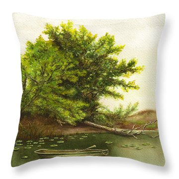 Serene Solitude Throw Pillow by Nan Wright