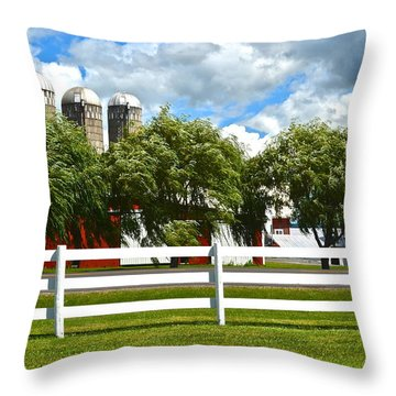 Serene Surroundings Throw Pillow by Frozen in Time Fine Art Photography