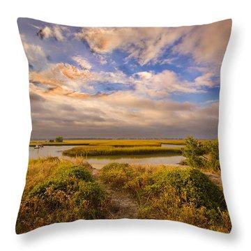 Wrightsville Marsh Throw Pillow