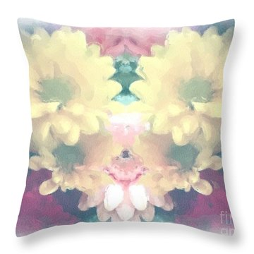 Throw Pillow featuring the photograph Serene Zinnias by Luther Fine Art