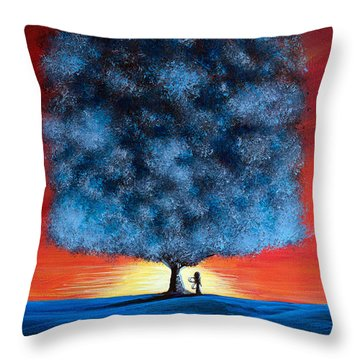 Serengeti Fairy By Shawna Erback Throw Pillow by Shawna Erback