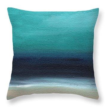 Beach Cottage Art Throw Pillows