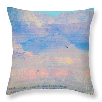 Serenity At The South Rim Throw Pillow
