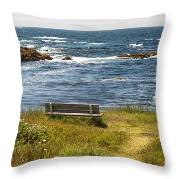 Serenity Bench Throw Pillow