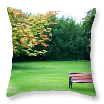 Throw Pillow featuring the photograph Serenity by Charlie and Norma Brock