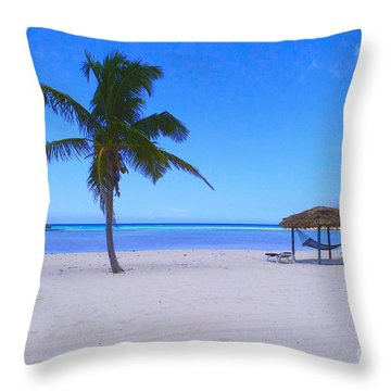 Serenity Throw Pillow by Carey Chen