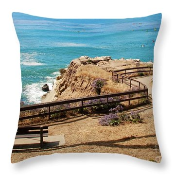 A Place To Relax Throw Pillow by Claudia Ellis