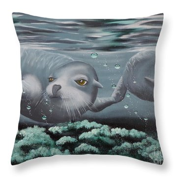 Throw Pillow featuring the painting Serenity by Dianna Lewis