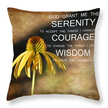 Serenity Echinaca Flower Throw Pillow