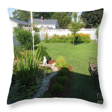 Throw Pillow featuring the photograph Serenity Gardens by Margaret Newcomb