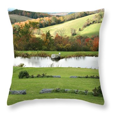Throw Pillow featuring the photograph Serenity Hill by Carol Lynn Coronios
