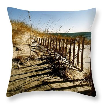 Dune Throw Pillow by Iconic Images Art Gallery David Pucciarelli