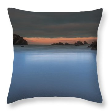Serenity In Blue.... Bandon Throw Pillow