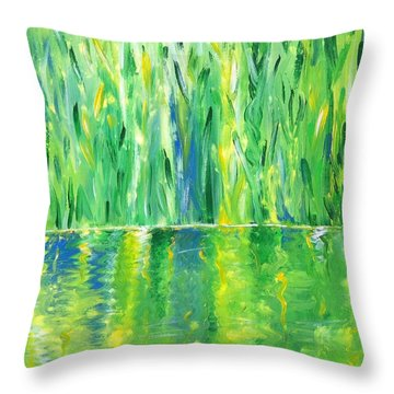 Serenity In Green Throw Pillow