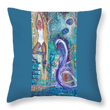 Serenity In Seasons Throw Pillow by Gail Butters Cohen
