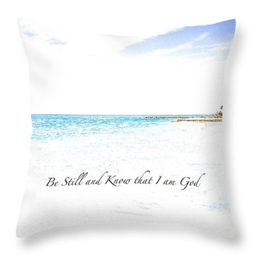 Throw Pillow featuring the photograph Serenity  by Margie Amberge