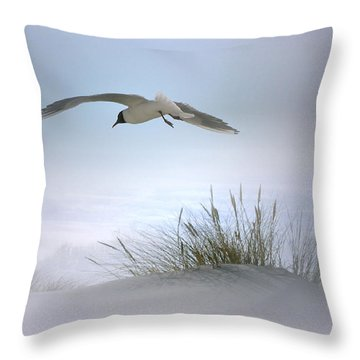 Throw Pillow featuring the digital art Serenity by Nina Bradica