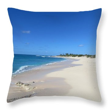 Throw Pillow featuring the photograph Serenity On Grand Turk by Jean Marie Maggi