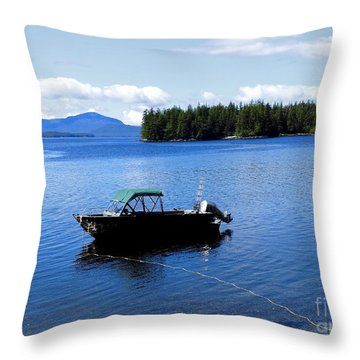 Serenity Outside Of Ketchikan Ak Throw Pillow