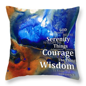 Serenity Prayer 4 - By Sharon Cummings Throw Pillow by Sharon Cummings