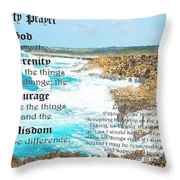 Serenity Prayer For Turbulent Times Throw Pillow