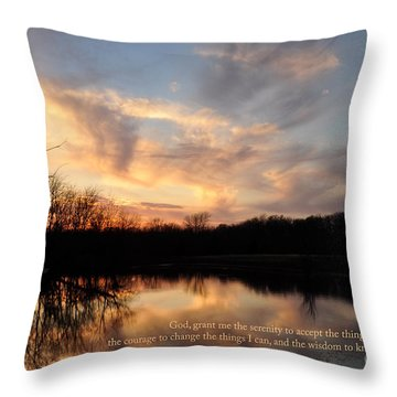 Serenity Prayer Quote Throw Pillow