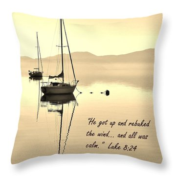 Serenity Scripture Inspirational Quote Throw Pillow
