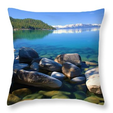 Throw Pillow featuring the photograph Serenity by Sean Sarsfield
