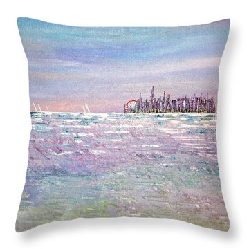Serenity Sky - Sold Throw Pillow