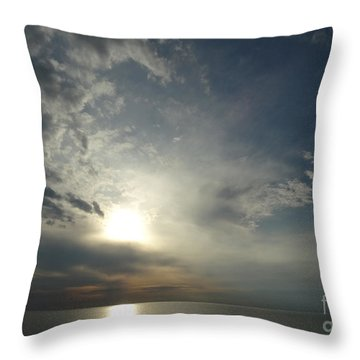 Serenity Sunset Throw Pillow