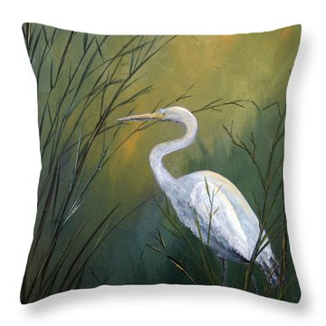 Throw Pillow featuring the painting Serenity by Suzanne Theis
