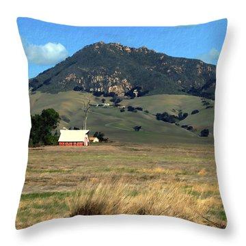 Serenity Under Bishops Peak Throw Pillow by Kurt Van Wagner