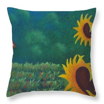 Sergi's Sunflowers Throw Pillow