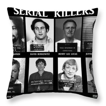 Serial Killers - Public Enemies Throw Pillow