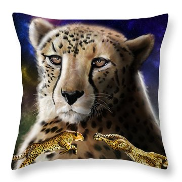 First In The Big Cat Series - Cheetah Throw Pillow