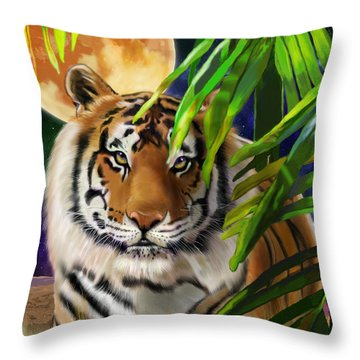 Second In The Big Cat Series - Tiger Throw Pillow