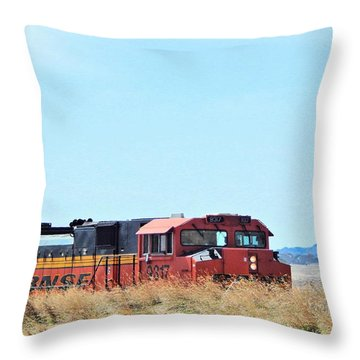 Serious Workhorses Throw Pillow by Aliceann Carlton