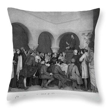 Sermon By Abelard Throw Pillow by Granger