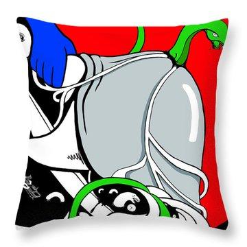 Serpent Of Time Throw Pillow