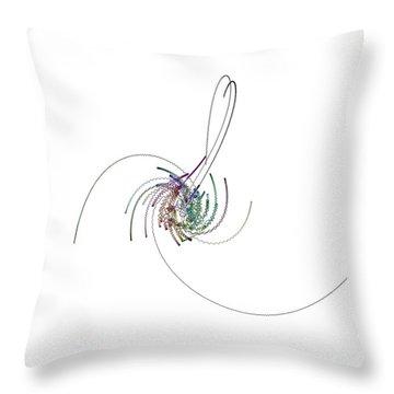Serpentins Quaternioniques Throw Pillow