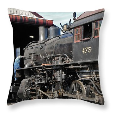Service Station Throw Pillow by Skip Willits