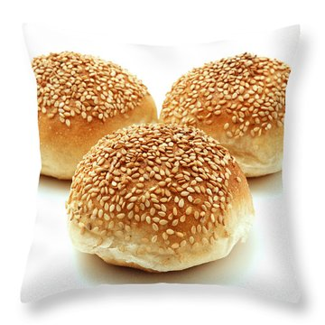 Sesame Bread Throw Pillow