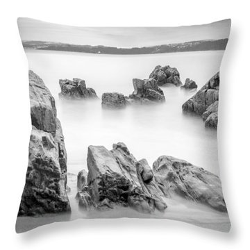 Throw Pillow featuring the photograph Seselle Beach Galicia Spain by Pablo Avanzini