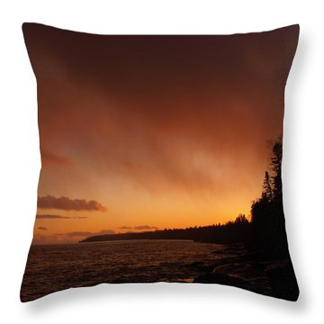 Set Fire To The Rain Throw Pillow by James Peterson