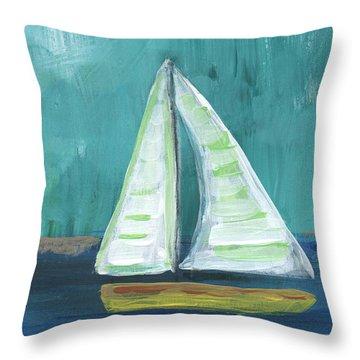 Set Free- Sailboat Painting Throw Pillow