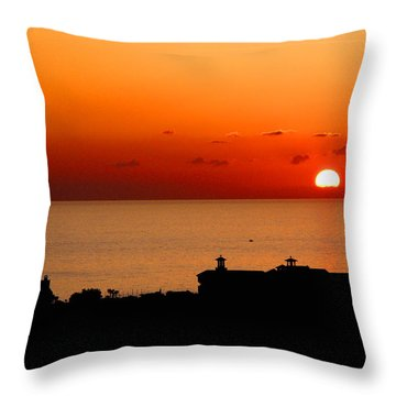 Set Into The Sea Throw Pillow by Scott Carruthers